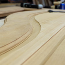 African Mahogany Curved Door Panel