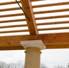 Timber Frame Pavilion Ship Lap Joint