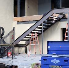 Steel Staircase For Restaurant