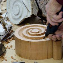 Spanish Cedar Scrolled Corbel Replication